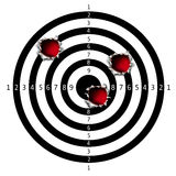 Target. Bullet holes Stock Image