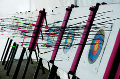 Target. Archery target - indoor game royalty free stock photos