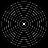 Target. Shooting numeral target  illustration Stock Image