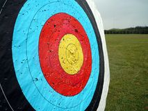 Target. Olympic Archery Target with Bullseye Stock Photo