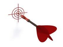 Target. 3d modelled and rendered illustration Stock Illustration