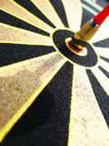 Target. Close up of magnetic target and dart stock photography
