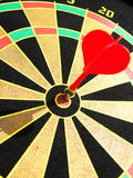Target. Close up of magnetic target and dart Royalty Free Stock Images