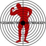 Target. For shooting range. Vector illustration Royalty Free Stock Photo