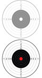 Target. For shooting from a cold steel Stock Photography