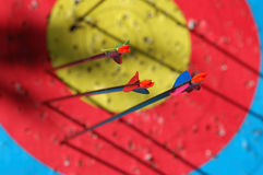 Target abstract. Archery arrows on target abstract Royalty Free Stock Photography