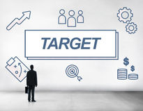 Target Accomplished Reached Goals Graphic Concept Royalty Free Stock Photos