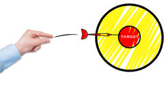 Target. Achieve goals at work, target Stock Photography