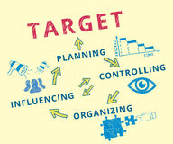 Target achievement. Infographic handrawn vector illustration of target achievement Royalty Free Stock Photography