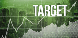 Target against view of cityscape Royalty Free Stock Photos