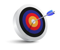 Target aim and arrow icon. Target aim and arrow. Successful shoot. Vector Illustration Stock Photos