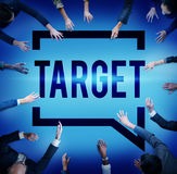 Target Aim Goal Inspiration Solution Success Vision Concept Stock Image