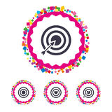 Target aim icons. Darts board signs symbols. Royalty Free Stock Image
