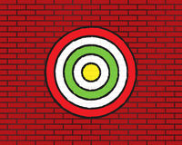 Target or aim, red brick wall Royalty Free Stock Photography