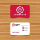 Target aim sign icon. Darts board symbol. Royalty Free Stock Photography