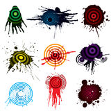 Target Aiming grunge. Designs, vector illustration file Stock Photos