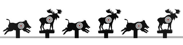 Target. Animal target on white background Stock Photography