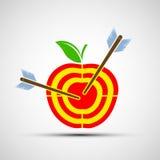 Target apple. Icon image. Stock Photos