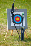 Target archery equipment Royalty Free Stock Photography
