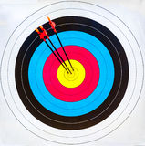 Target archery: hit the mark (3 arrows) Stock Photo