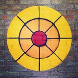 Target archery painted on brick wall Royalty Free Stock Photo