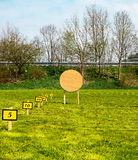 Target at an archery range Stock Image