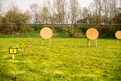 Target at an archery range Stock Images