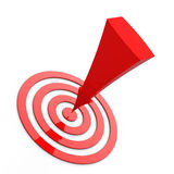 Target and arrow. Red Target and arrow on white backgruound - 3d render Stock Photo