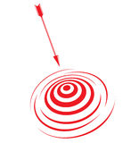Target and arrow. Vector illustration of target and arrow Stock Photography