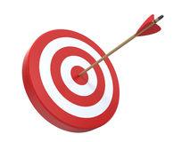 Target with arrow. 3d render vector illustration