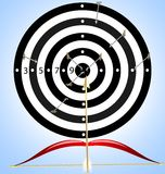 Target and arrow Royalty Free Stock Photo