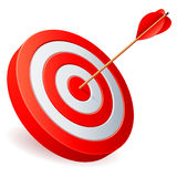 Target with arrow. Target with arrow on white background stock illustration