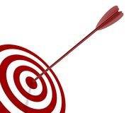Target and arrow Stock Photos