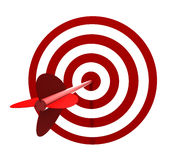 Target and arrow Stock Photo