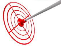 Target and an arrow Stock Image