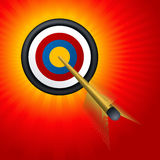 Target and arrow Royalty Free Stock Photos