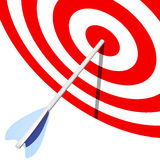 Target and arrow Stock Photography