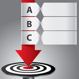 Target arrow banner infographic Royalty Free Stock Photography