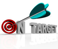 On Target - Arrow on Bulls-Eye Royalty Free Stock Photo
