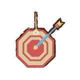 Target arrow business concept color sketch Stock Photo