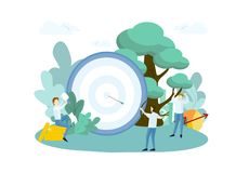 Target with an arrow. royalty free illustration