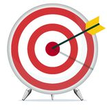 Target with an Arrow in the Center Royalty Free Stock Photo