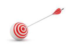 Target and arrow. 3d render of target and arrow on white background Stock Photography