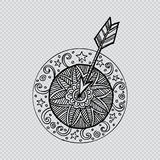 Target with arrow. Royalty Free Stock Images