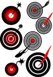 Target with arrow royalty free stock photography
