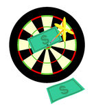 Target an arrow dollar Stock Photos