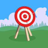 Target with arrow, goal achieve concept. Vector illustration Stock Images