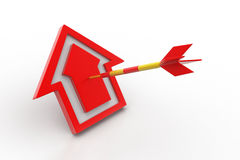 Target arrow hit the home Stock Images