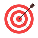 Target arrow isolated icon. Target arrow flat icon. Arrow hitting target. Business concept Royalty Free Stock Photos