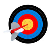 Target with arrow. Isolated on white Royalty Free Stock Image